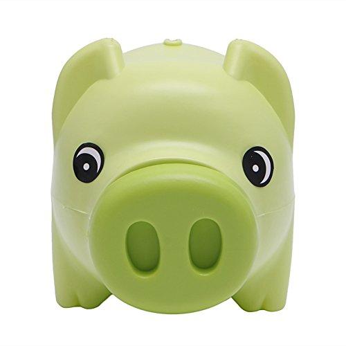 Hacloser Plastic Piggy Bank Coin Money Cash Saving Box Collectible for Boys Girls Kids Pig Toy Gift Green