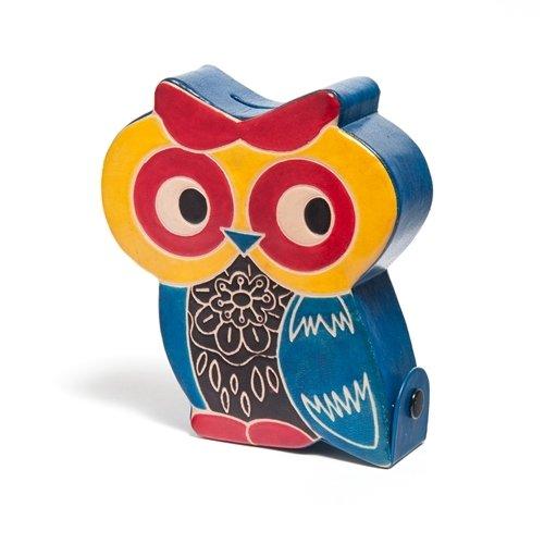 Sitara CollectionsCruelty-Free Shanti Leather Owl Piggy Bank