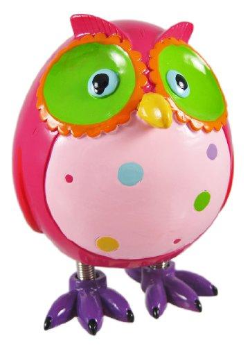 Super Cute Pink Owl Piggy Bank W Spring Legs Money by Blowfish