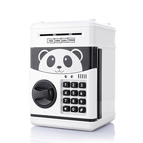 ROSKY Electronic Money Banks Cartoon Piggy Bank Mini ATM Coin Saving Banks Cash Coin Can Password Panda Coin Saving Boxes Toys for Children Birthday Christmas Festival Gift