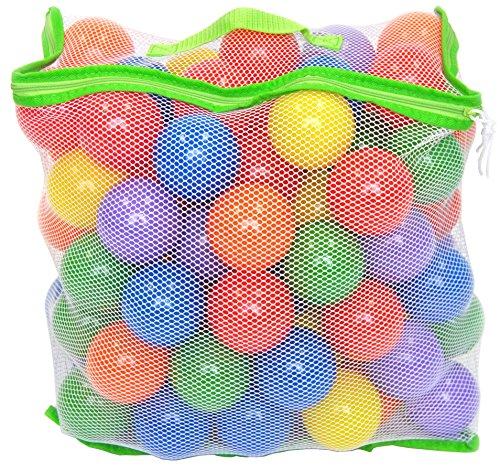 100 Wonder Playball Non-Toxic Crush Proof Quality Balls w Mesh Tote