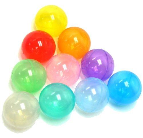 100 Wonder Playball Non-Toxic Crush Proof Quality Invisiball w Mesh Tote RedOrangeYellowGreenTealBlueSky BluePurplePinkWhite
