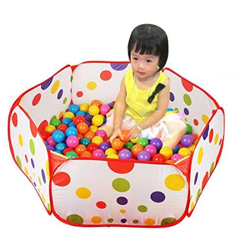 BinmerTMPop up Hexagon Polka Dot Baby Kids Ball Play Pool Tent Carry Tote Toy  50 Balls