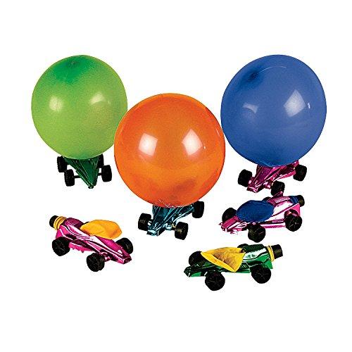 Car Balloon Racers Set of 12 Fun Party Toys