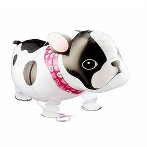 Walking Bulldog Helium Balloon Birthday Kids Party Toy Set of 3