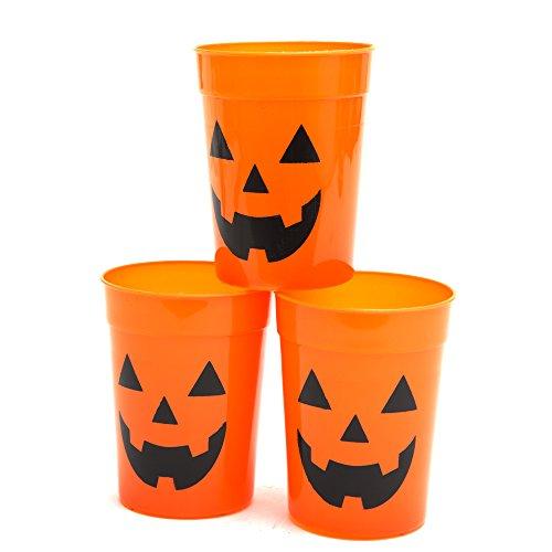 Halloween Plastic Jack O Lantern Cup Pack of 12