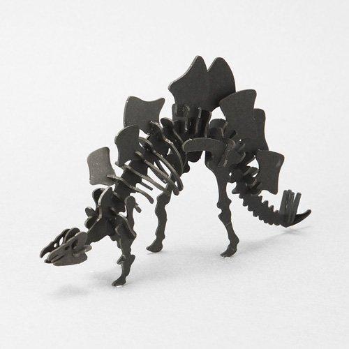 3D paper puzzle dinosaur Urano Stegosaurus black
