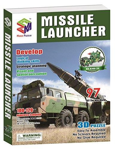 Missile Launcher 3D Paper Puzzle 97 Pieces