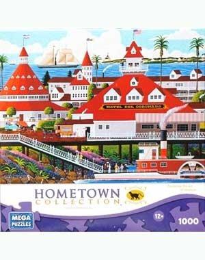 HOMETOWN COLLECTION Featuring the Art of Heronim Hotel Del Coronado 1000 Piece Puzzle