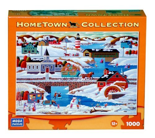 HOMETOWN COLLECTION Winter in New England 1000 Piece Puzzle