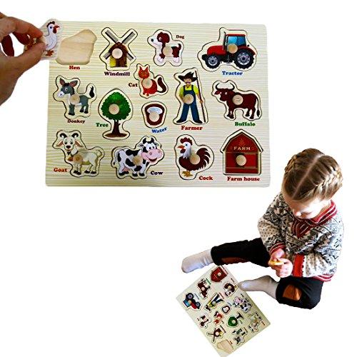 Dazzling Toys Kids Favorite Farm Wooden Puzzle