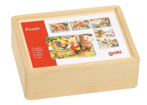 Goki Cube Farm Puzzle 12 Piece