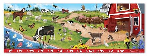 Melissa Doug Search and Find Sunny Hill Farm Jumbo Jigsaw Floor Puzzle 48 pcs over 4 feet long