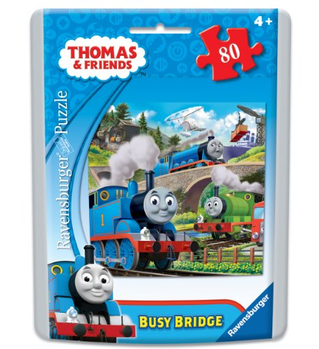Thomas Friends Busy Bridges Puzzle in an Easy-Seal Pouch 80-Piece