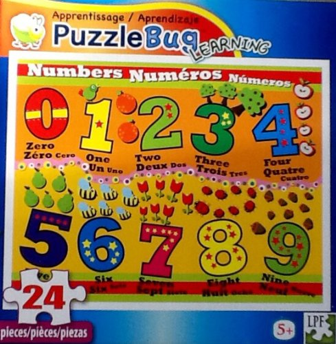 Fantastic Childrens Number Jigsaw Puzzle 24 Piece Puzzle Educational Bright Colorful By Puzzlebug