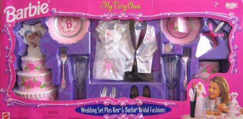 Barbie My Very Own Wedding Set Plus KEN Bridal Fashions Playset 1999 Arcotoys Mattel