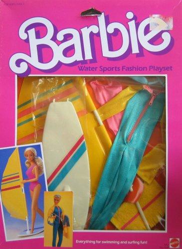 Barbie Water Sports Fashion Playset - Swimming Surfing Fun 1984