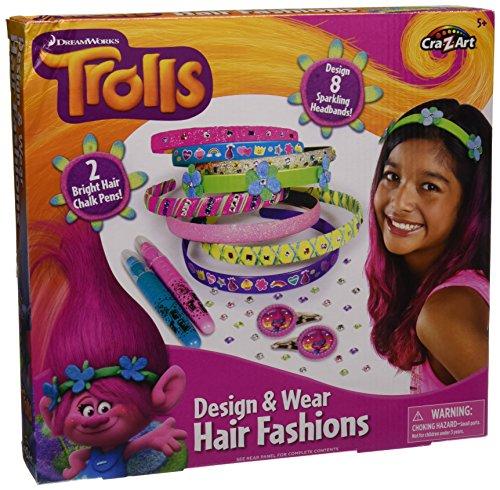 Cra-Z-Art Trolls Create Your Own Hair Fashions Playset