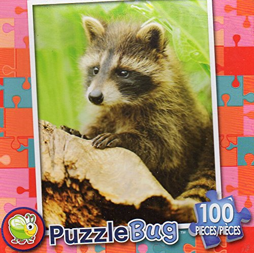 Cute Raccoon - Puzzlebug 100 Piece Jigsaw Puzzle