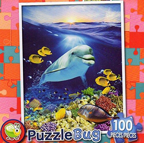 Happy Dolphin - Puzzlebug 100 Piece Jigsaw Puzzle