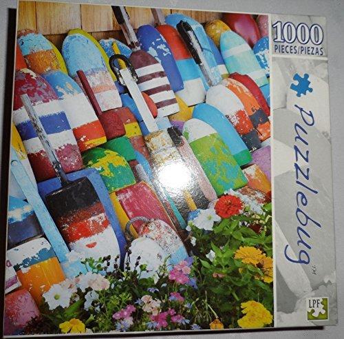 Puzzlebug 1000 Piece Interlocking Jigsaw Puzzle Fishing Buoys in Rockport Cape Ann Massachusetts
