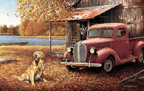 A Golden Autumn a 550-Piece Jigsaw Puzzle by Sunsout Inc