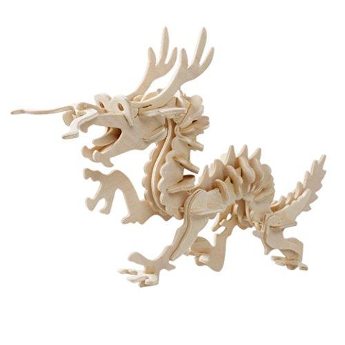 TANGDA 3D Wood Animal Puzzle Model DIY Jigsaw - Dragon