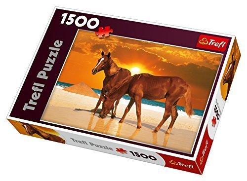Trefl Stallions on The Beach Jigsaw Puzzle 1500 Piece by Trefl