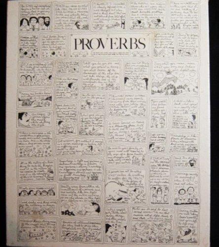 Proverbs 1983 Paul Palnik Black and White Jigsaw Puzzle 18 X 24 550 Pcs
