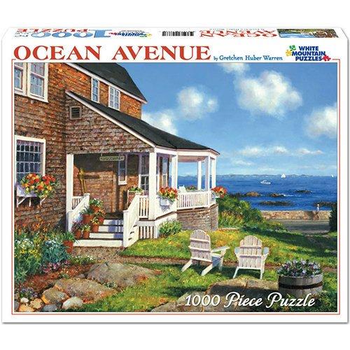White Mountain Puzzles - Ocean Avenue by Gretchen Huber Warren - 1000 Piece Jigsaw Puzzle