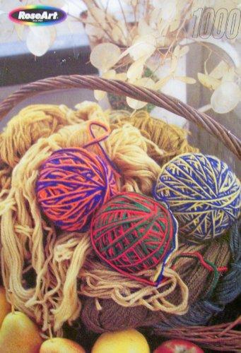 RoseArt Basket of Yarn 1000 Piece Fully Interlocking Jigsaw Puzzle