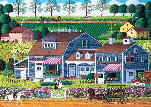 300 Piece Charles Wysocki Prairie Wind Flowers Jigsaw Puzzle