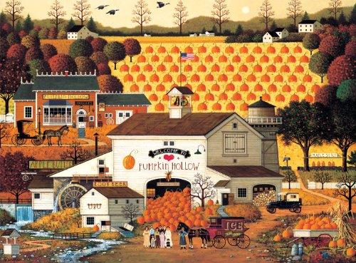 Buffalo Games Charles Wysocki Pumpkin Hollow - 1000pc Jigsaw Puzzle