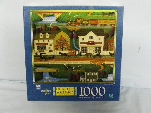 Charles Wysocki 1000 Piece Jigsaw Puzzle Titled Hometown Falls