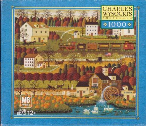 Charles Wysocki 1000 Piece Jigsaw Puzzle Titled Honey Pumpkin Valley