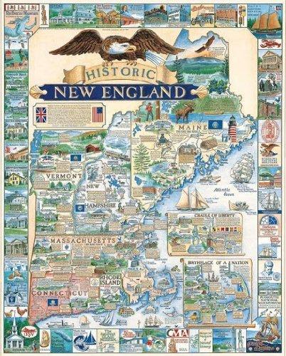 White Mountain Puzzles 1000 Piece - Historic New England by White Mountain Puzzles
