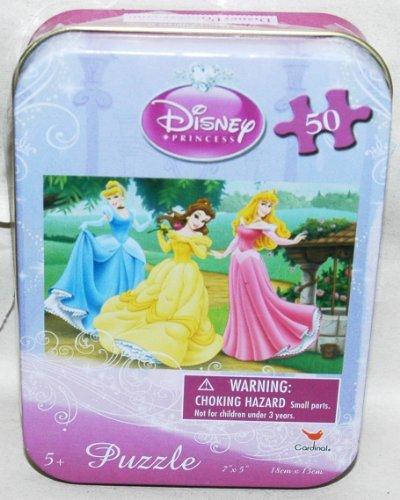 Disney Princess 50-Piece Jigsaw Puzzle in a Tin - Cinderella Belle and Aurora