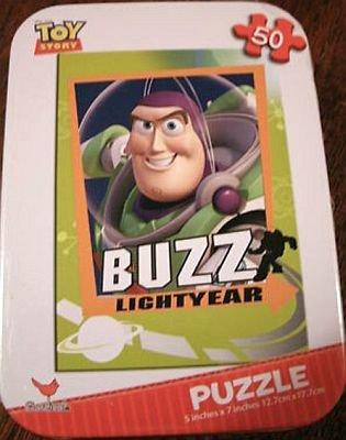 Disney Toy Story Buzz Lightyear 50 Piece Jigsaw Puzzle in Travel Tin