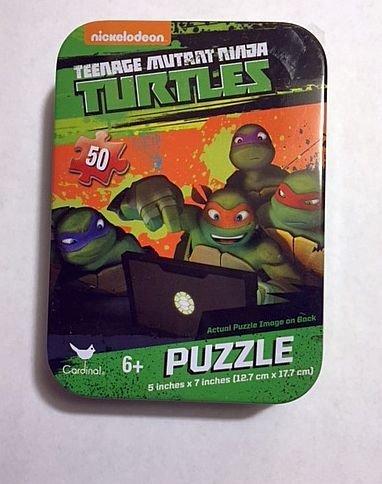 Teenage Mutant Ninja Turtle 50 Piece Jigsaw Puzzle in Travel Tin by Mini Puzzles