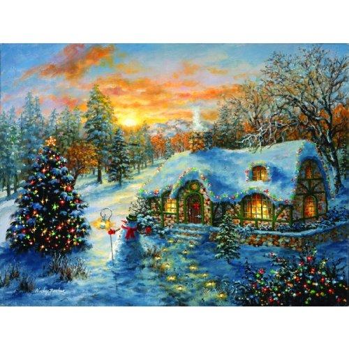 Sunsout Christmas Cottage 500 Piece Jigsaw Puzzle