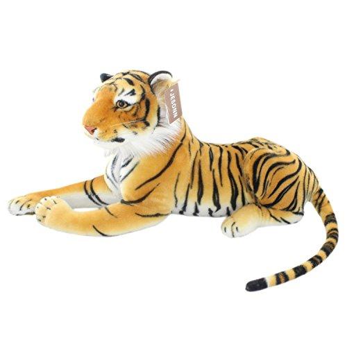 JesonnRealistic Stuffed Plush Toy Tiger AnimalBrown18948CM1PC