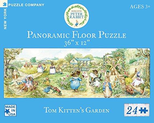 New York Puzzle Company - Beatrix Potter Tom Kittens Garden - 24 Piece Jigsaw Puzzle