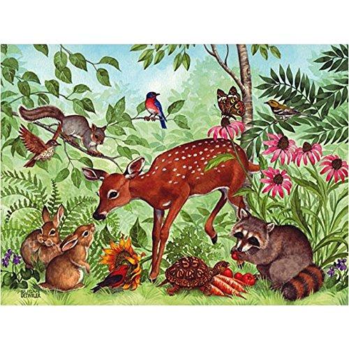 300 Piece Large Format Jigsaw Puzzle By Susan Detwiler Deer Friends