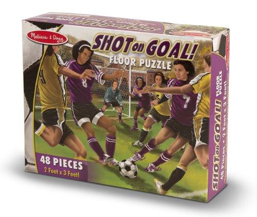 Melissa Doug Shot on Goal Floor Puzzle 48 Pieces