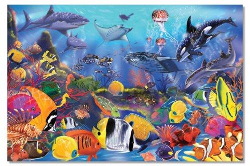 Melissa Doug Underwater Ocean Floor Puzzle 48 Pieces 2 x 3 feet