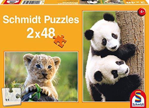 SCHMIDT Childrens Cute Animal Babies Puzzle 48-Piece