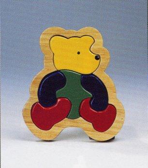 Goki Wooden Bear Puzzle 6 Piece