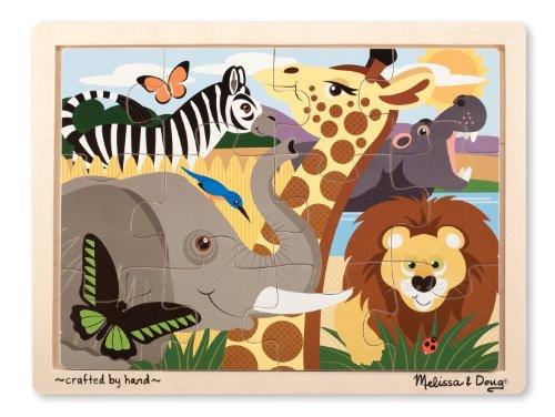 Melissa Doug African Animals Jigsaw Puzzle 12-Piece