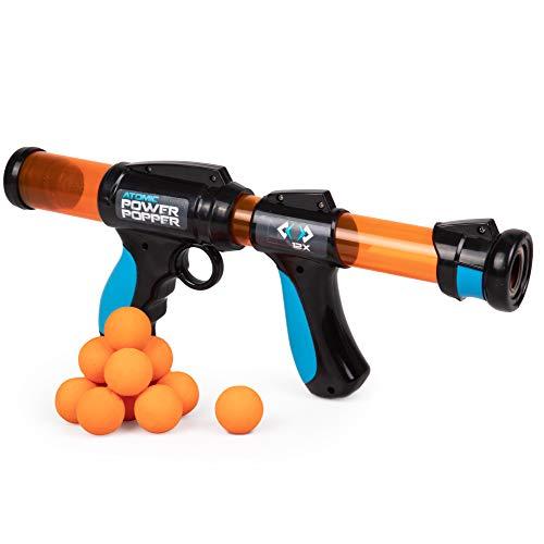 Atomic Power Popper 12X - Rapid Fire Foam Ball Blaster Gun - Shoots Up to 12 Foam Balls - 4