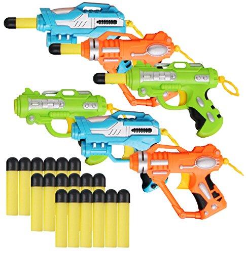 Liberty Imports Mini Foam Dart Blasters Multi Pack Party Favors Set of 6